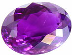 Faceted amethyst, violet Madagascar gemstone, exclusive cut amethysts, amethyste information data