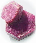 Twin ruby crystal, red Madagascar mineral, exclusive rubies, corundum information data