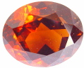 Oval Hessonite garnet, orange cinnamon gemstone, exclusive hessonites gemstones, garnets information