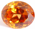 Oval Spessartite garnet, orange gemstone, exclusive spessarites gemstones, garnets information