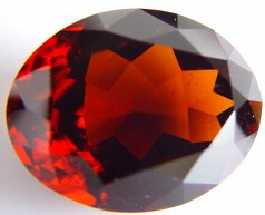 Hessonite gemstone oval shape, orange garnet, exclusive loose faceted hessonites, hessonite shopping