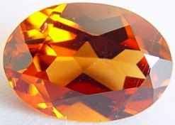 2.08 carats oval spessartite garnet gemstone, orange garnet, exclusive loose faceted spessartine garnets, gemstones shopping