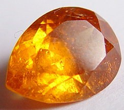 3.34 carats pear mandarin garnet gemstone, orange garnet, exclusive loose faceted mandarine garnets, gemstones shopping