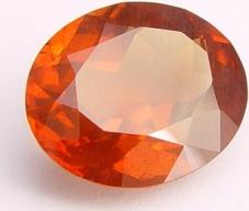 15.48 carats Oval Malaya garnet gemstone, orange garnets, exclusive loose faceted malaya garnets, pyrope spessartite shopping