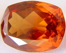 8.71 carats cushion Malaya garnet gemstone, orange garnet, exclusive loose faceted malaya garnets, pyrope spessartite shopping