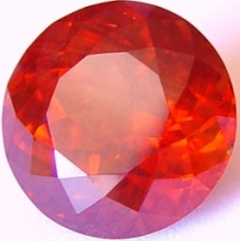 16.41 carats round Malaya garnet gemstone, orange garnet, exclusive loose faceted malaya garnets, pyrope spessartite shopping