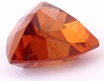 6.23 carats trillion Malaya garnet gemstone, orange garnet, exclusive loose faceted malaya garnets, pyrope spessartite shopping