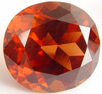 9.85 carats cushion Malaya garnet gemstone, orange garnet, exclusive loose faceted malaya garnets, pyrope spessartite shopping