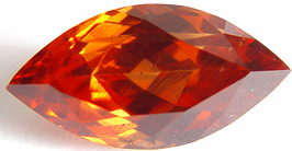 11.61 carats navette Malaya garnet gemstone, orange garnet, exclusive loose faceted malaya garnets, pyrope spessartite shopping