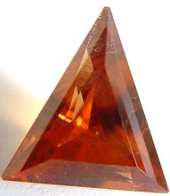 3.23 carats triangle Malaya garnet gemstone, orange garnet, exclusive loose faceted malaya garnets, pyrope spessartite shopping