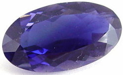 6.92 carats oval iolite gemstone, blue gems, exclusive loose faceted iolites, gemstones shopping