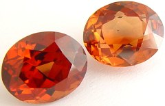 9.45 carats pair oval Malaya garnet gemstone, orange garnet, exclusive loose faceted malaya garnets, pyrope spessartite shopping