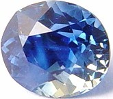 1.06 carat untreated blue sapphire gemstone, transparent gems, exclusive loose faceted sapphires, gemstones shopping