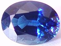 1.36 carat oval blue sapphire gemstone, transparent gems, exclusive loose faceted sapphires, gemstones shopping