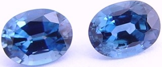 2.50 carats pair oval blue sapphire gemstone, precious sapphires, exclusive loose faceted sapphires, gemstones shopping