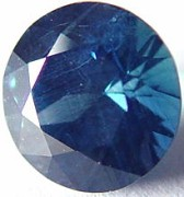 1.39 carat round blue sapphire gemstone, transparent gems, exclusive loose faceted sapphires, gemstones shopping