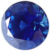 2.01 carats untreated round blue sapphire gemstone, transparent gems, exclusive loose faceted sapphires, gemstones shopping
