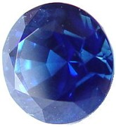 2.01 carats round blue sapphire gemstone, transparent gems, exclusive loose faceted sapphires, gemstones shopping