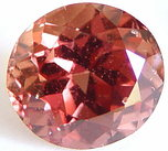 oval padparadscha sapphire gemstone, transparent gems, exclusive loose faceted sapphires, untreated gemstones shopping
