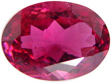 Oval rubellite tourmaline gemstone, exclusive loose faceted tourmalines, Madagascar gemstones shopping