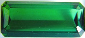 Octagon green tourmaline gemstone, exclusive loose faceted tourmalines, Madagascar gemstones shopping