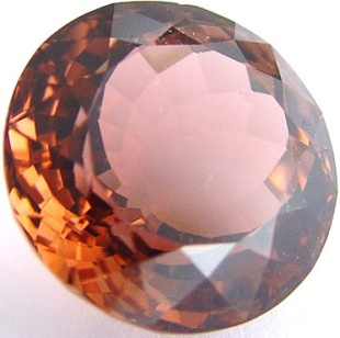 Peach tourmaline gemstone, exclusive loose faceted tourmalines, Madagascar gemstones shopping
