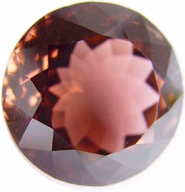 40.17 carats round Peach tourmaline gemstone, exclusive loose faceted tourmalines, Madagascar gemstones shopping